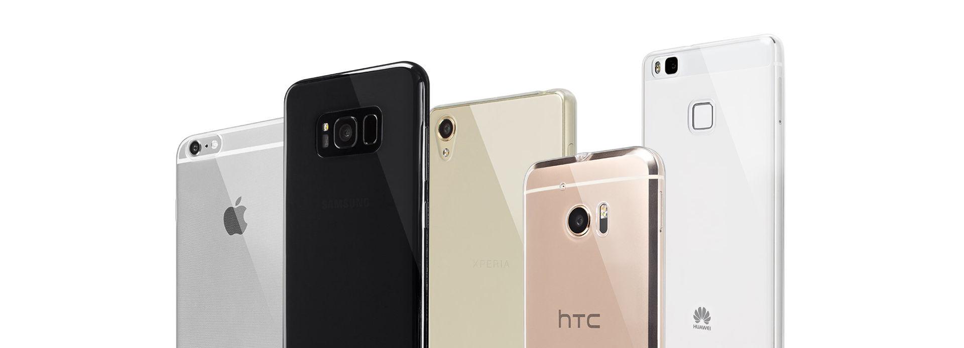 Die Schutzhülle NoCase ist erhältlich für viele unterschiedliche Smartphone Modelle namhafter Hersteller, wie Apple, Samsung, HUAWEI, LG und andere.